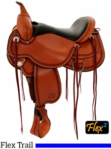 "14"" to 18"" Circle Y Pioneer Flex2 Trail Saddle 1665 w/Free Pad"