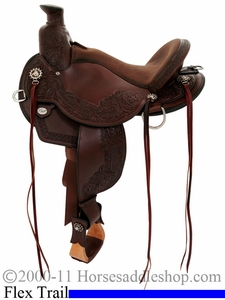 "14"" to 17"" Circle Y Walnut Grove Flex2 Trail Saddle 1157 *free gift*"