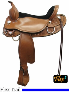 "** SALE ** 14"" to 18"" Circle Y Cottonwood Flex2 Trail Saddle 2361 w/Free Pad"