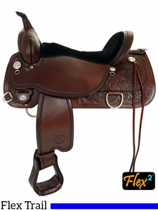 "** SALE ** 14"" to 18"" Circle Y Cypress Flex2 Trail Saddle 2360 w/Free Pad"
