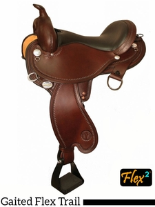 "** SALE ** 14"" to 17"" Circle Y Arkansas Flex2 Trail Gaiter Saddle 1587 w/Free Pad"