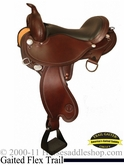 "** SALE **14"" to 17"" Circle Y Arkansas Flex2 Trail Gaiter Saddle 1587 *free pad or cash discount*"