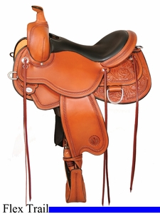 "** SALE **14"" to 17"" Circle Y Kenny Harlow Cedar Run Trail Flex2 Saddle 5620 *free pad or cash discount*"