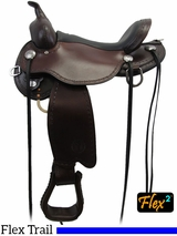 "** SALE ** 14"" to 18"" Circle Y Salt River Flex2 Trail Saddle 1667 w/Free Pad"
