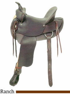 "** SALE ** 14"" to 16"" American Saddlery Bear Trap Rancher, Hard Seat 721"