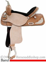 "14"" to 16"" American Saddlery Silver Racer Barrel Saddle 717"