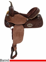 "14"" 15"" Alamo Chocolate Barrel Racer or Pleasure Saddle 1274-3M 1275-3M"