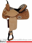 "14"" 15"" Alamo Zebra Barrel Racing Saddle 1234-zb"