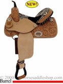 "** SALE **14"", 15"" Alamo Zebra Barrel Racing Saddle 1234-zb"