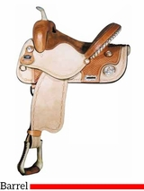 "14"" 15"" Big Horn Silver Barrel Saddle 1464 1564"