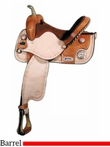 "** SALE ** 14"" 15"" Big Horn Star Barrel Saddle 1466 1566"