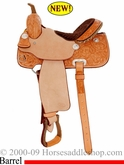 "14"" ,15"" Billy Cook Classic Barrel Racing Saddle 2031"