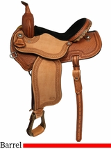 "14"" 15"" Courts Saddlery Barrel Saddle 3667ZAN"