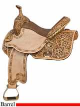 "14"" 15"" Tex Tan Floral Barrel Saddle 292236NA"