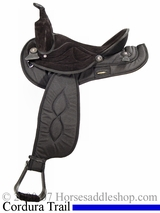 "14"" to 17"" Big Horn Black Synthetic Saddle 599 600 601 602 603 604"