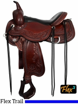 "** SALE ** 14"" to 17"" Circle Y Julie Goodnight Monarch Flex2 Arena Performance Saddle 1752 w/Free Pad"