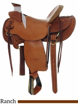 "** SALE ** 14.5"" to 16"" Billy Cook Hard Seat Wade Saddle 2189"