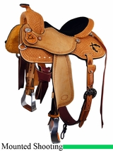 "DISCONTINUED 14.5"" to 16"" Reinsman Rock Clark Mounted Shooting Saddle 4904"