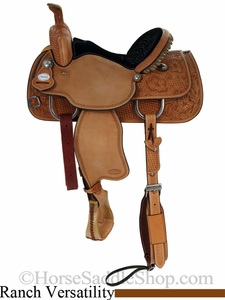 "** SALE **14.5"" 15"" 15.5"" Crates Light Ladies Versatility Saddle Half Breed Roughout 2279"