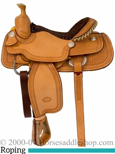 """14.5"""" to 16"""" Billy Cook Arena Roping Saddle 2146"""