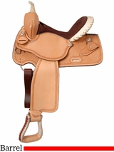 """** SALE ** 14.5"""" to 15.5"""" Silver Royal Elite Barrel and Competition Saddle 251"""