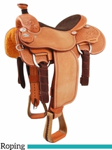 "** SALE ** 13.5"" to 17"" Martin Saddlery Joe Beaver Calf Roper mr63AOW"