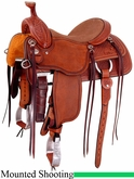 "14.5"" 15"" Martin Saddlery Mounted Shooting Saddle mr45"