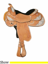 "14.5"" to 17"" Circle Y Aurora Select Show Saddle 2956 w/Free Pad"