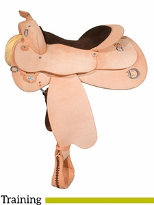 "14.5"" to 17"" Circle Y Roughout Training Saddle 1439 w/Free Pad"