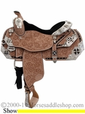 "** SALE **14.5"" 16"" 17"" Silver Mesa Elite Show Saddle SM1002 *FREE SADDLE PAD OR CASH DISCOUNT!*"