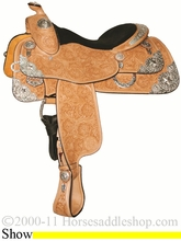 """14.5"""" 16"""" 17"""" Silver Mesa Traditions Show Saddle SM2001 *FREE SADDLE PAD OR CASH DISCOUNT!*"""