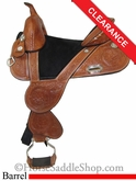 "SOLD 12/5/13 $1529.10 14.5"" Circle Y Jackie Jatzlau Tulip Treeless Barrel Racing Saddle 1332"