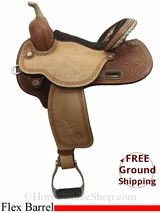 "14.5"" Circle Y Kelly Kaminski Fly 1526 Flex2 Barrel Saddle, Wide Tree, Floor Model uscy3036 *Free Shipping*"