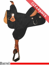 """14.5"""" Circle Y Rally Wide Treeless Barrel Saddle 2310 CLEARANCE"""