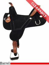 """SOLD 2017/02/10  14.5"""" Circle Y Rally Wide Treeless Barrel Saddle 2310 CLEARANCE"""