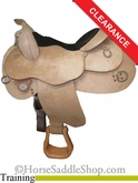 "14.5"" Circle Y Roughout Training Saddle 1439"
