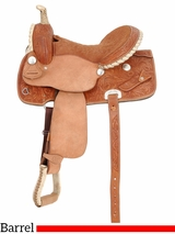 "DISCONTINUED 2016/04/20 14.5"" Royal King Flash Barrel Competition Saddle 3145"