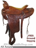 "PRICE REDUCED! 14.5"" Used All Around Saddle usun2633 *Free Shipping*"