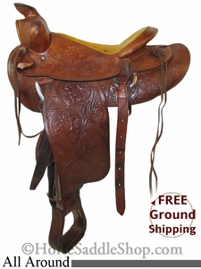 "SOLD 2014/06/19 $199 PRICE REDUCED! 14.5"" Used All Around Saddle usun2633 *Free Shipping*"