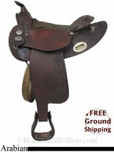 "PRICE REDUCED! 14.5"" Used American Saddlery Arabian Saddle usas2876 *Free Shipping*"