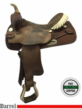 "14.5"" Used Billy Cook Wide Barrel Saddle 1572, usbi3577 *Free Shipping*"