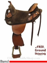 "14.5"" Used Bob Marshall Barrel Racing Saddle, Wide Tree usbm3088 *Free Shipping*"