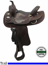 "SOLD 2016/03/02 15"" Used Crates Wide Trail Saddle 281-2 uscr3327 *Free Shipping*"