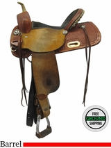 "SOLD 2016/11/07  14.5"" Used Custom HR Frisco Texas Wide Barrel Saddle uscu3566 *Free Shipping*"
