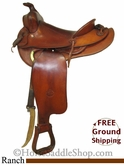 "PRICE REDUCED! 14.5"" Used Heiser Keystone Ranch Saddle ushs2602 *Free Shipping*"
