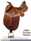 "PRICE REDUCED! 14.5"" Used Sid Hill & Sons Australian Saddle usau2576 *Free Shipping*"