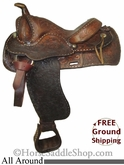 "PRICE REDUCED! 14.5"" Used Tex Tan Hereford All Around Saddle ustt2585 *Free Shipping*"