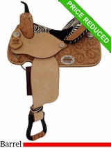 "14"" Alamo Zebra Barrel Racing Saddle 1234-zb CLEARANCE"