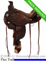 "14"" Circle Y Walnut Grove Flex2 Trail Saddle 1157"
