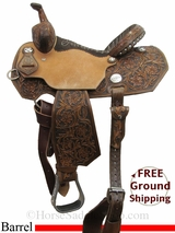"PRICE REDUCED! 14"" Reinsman Charmayne James 4285 Barrel Saddle, Wide Tree, Floor Model usrs3025 *Free Shipping*"